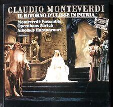 Monteverdi Il Ritorno d'Ulisse / Retour d'Ulysse  Harnoncourt  3 LP M, BX NM.
