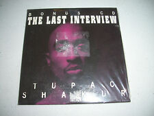 New Sealed Tupac Shakur 2Pac The Last Interview CD Hard to FInd Thug Immortal
