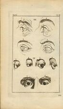 rev john caspar lavater 1797 physiognamy plate. eyes of wit & malice