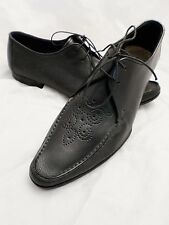 PAUL SMITH black leather oxfords made Italy dress shoes 41 7 8