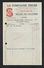 """ORLEANS (45) MACHINES à COUDRE """"Cie SINGER"""" 1936"""