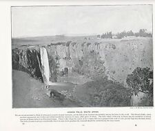 1897 VICTORIAN PRINT ~ HOWICK FALLS SOUTH AFRICA ~ PLUS DESCRIPTIVE TEXT