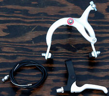 White Cruiser Bike Front Brake Lever Cable Caliper BMX Vintage Schwinn Bicycle