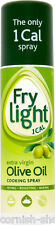 3 x FRYLIGHT EXTRA VIRGIN OLIVE OIL SPRAY...ONE CALORIE PER SPRAY!