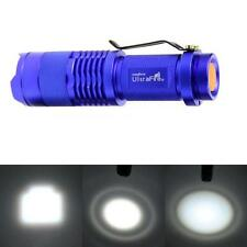 7W 1200LM CREE Q5 LED Flashlight Torch Adjustable Focus Zoom Bright Lamp Light