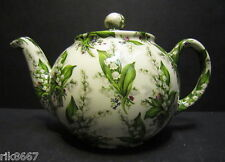 Heron Cross Pottery Lilly Of The Valley Chintz English 3 Cup Tea Pot or 2 mugs
