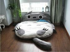 L size DOUBLE  Totoro Cartoon Bed Mattress,  Large Bean Bag Sofa Lounge