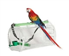 Parrot Bird Travel Cage Sleep Cabin Carrier First Class Conures to Macaws