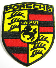 PORSCHE STUTTGART Germany Advertising Embroidered Iron on Patch Supercar Europe