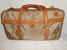 """Vintage Hartmann 21"""" Nylon 3 Compartment Carry-On Luggage Leather Trim"""