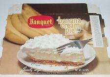 1977 Banquet Banana Cream Pie Box TV dinner frozen food supermarket