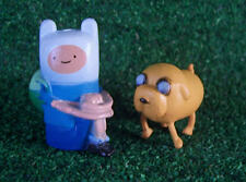 NEW ADVENTURE TIME CARTOON NETWORK MINI TOY PLAYSET FIGURES FINN & JAKE 2 PIECES