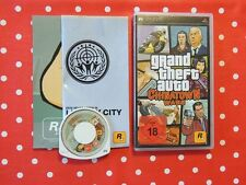 GRAND Theft Auto Chinatown Wars GTA PSP Playstation Portable COMPLETO usk18