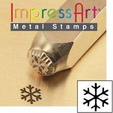 Metal stamp, punch, snowflake 6mm snow flake