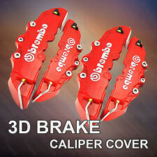 4pcs Red 3D Brembo Disc Brake Caliper Covers Front and Rear Universal Racing Red