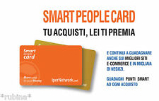 SMART CARD PEOPLE Ipernetwork SPEDISCO Carta reale GUADAGNA ACQUISTANDO SU EBAY!