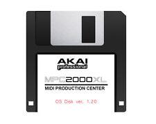 2 Disk Set - Akai MPC 2000XL OS Ver. 1.20 Floppy Disk - FREE Overnight Shipping