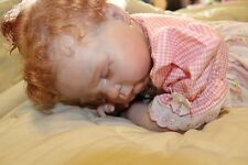 REBORN ATOMICALLY CORRECT GIRL BABY ANGEL VINYL CLOTH PAINTED ROOTED FULL BODY