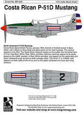 Blue Rider Decals 1/72 COSTA RICAN P-51D MUSTANG