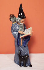 Royal Doulton THE WIZARD Figurine PERFECT  Cat Owl Spell Book 1978 HN 2877