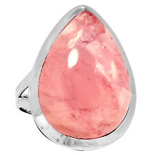 Rose Quartz 925 Sterling Silver Ring Jewelry s.10 3459R
