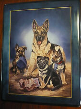 """Linda Picken Limited Edition Guardian Shepherds  """"Detectives in Training"""""""