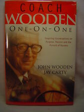 John Wooden & Jay Carty COACH WOODEN ONE-ON-ONE first edition SIGNED 2003