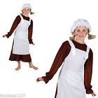 Victorian Girl Fancy Dress Costume Dress Up Outfit World Book Day Child Brown