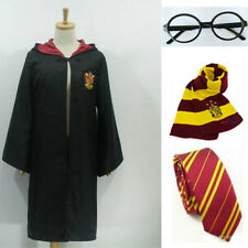 Adult&Children Harry Potter Hogwarts Tie Glasses Cape Cloak Robe Cosplay Costume