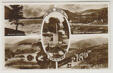 Stirlingshire postcard - Rob Roy's Country (Multiview showing 5 views) - RP