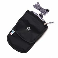 Aqua Quest Continental Travel Pouch - 100% Waterproof Passport Pocket - Black
