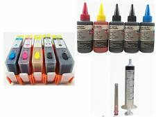Combo HP 564 564XL Refillable Ink Cartridge Set with 500ml Ink for C309a C309g