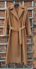 Jaeger Camel Full Length Super Soft Wool Wrap Coat (UK 14)