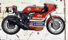 Honda RCB1000 1976 Aged Vintage SIGN A3 LARGE Retro