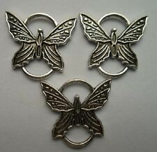 6 pcs Tibetan silver butterfly charms connector  Suitable for charm bracelet