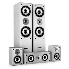 SILVER HIFI 5WAY 1150W SURROUND SOUND HOME CINEMA TOWER SATELLITE SPEAKER SYSTEM