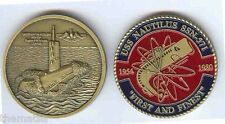 NAVY USS NAUTILUS SSN-571  SUBMARINE FIRST AND FINEST MILITARY CHALLENGE COIN