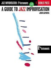 Guide To Jazz Improvisation Learn Play E Flat Alto Saxophone Sax Music Book & CD