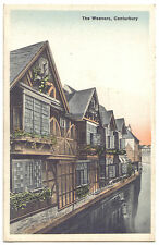THE WEAVERS CANTERBURY Kent OLD POSTCARD