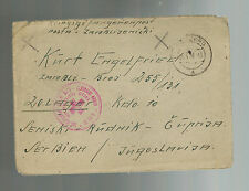 1946 Edelsberg Germany to Yugoslavia Prisoner of War Camp POW Cover Red Cross