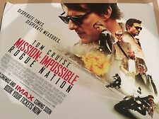 Mission Impossible-Rouge Nation Original Uk Quad Poster