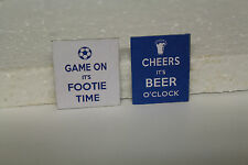 DOLLS HOUSE ( PUB   Metal Sign =  Beer & Footie