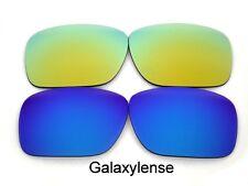 Galaxis Ersatzgläser Für Oakley Holbrook Blau & Gold Polarisierend! 2 Paar