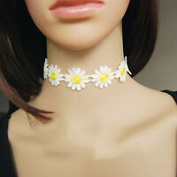 New Arrived Charm Daisy Flower Choker Chain Bib Collar Statement Lace Necklace