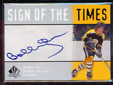 2000-01 SP AUTHENTIC SIGNS OF THE TIMES BOBBY ORR AUTO SP SHORTPRINT AUTOGRAPH