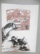 BENSION ENAV  Le Chef d'oeuvre inconnu Couverture en litho  Mourlot Balzac Art