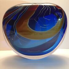 Peter Layton Ariel Stone Form Mint Condition Studio Art Glass Vase Signed Rare
