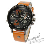 DZ 7332 Fashion Sport Army Watch Leather Strap Band Men's Quartz Wristwatches