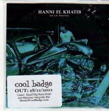 (DD991) Hanni El Khatib, Dead Wrong - 2011 DJ CD