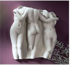 HELLENISTIC 3 LADIES OF GRACE ANCIENT REPLICA NUDE WALL SCULPTURE HOME DECOR NEW